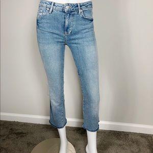 * B-18: Free People light wash crop jeans size 24